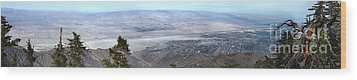 Palm Springs Panoramic View - 01 Wood Print by Gregory Dyer