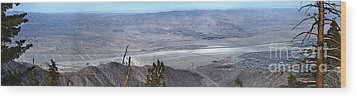 Palm Springs Panoramic View - 02 Wood Print by Gregory Dyer