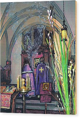 Palm Sunday Liturgy Wood Print by Sarah Loft