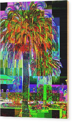 Palm Tree Wood Print by Jodie Marie Anne Richardson Traugott          aka jm-ART
