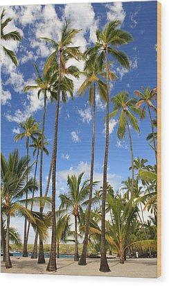 Wood Print featuring the photograph Palm Trees At Pu'uhonua O Honaunau Nhp by Scott Rackers