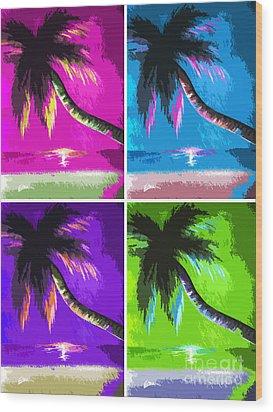 Palm Trees By Shawna Erback Wood Print by Shawna Erback