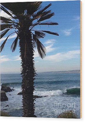 Palm Waves Wood Print by Susan Garren