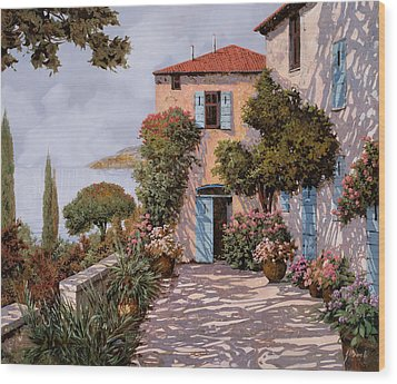 Palmette Viola Wood Print by Guido Borelli