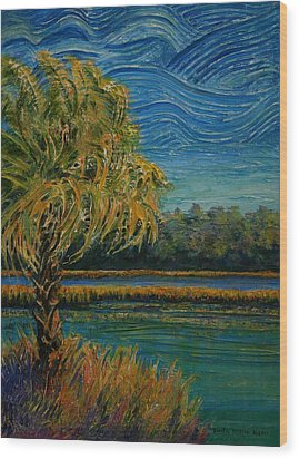 Palmetto State Wood Print