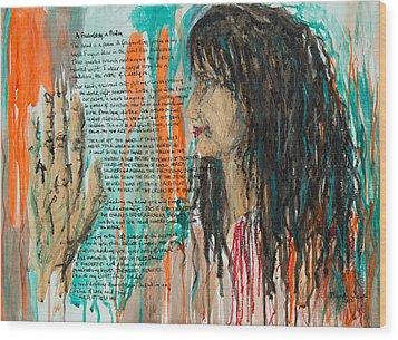 Palmistry A Psalm Wood Print by Brenda Clews