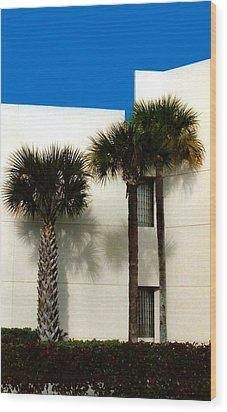 Palms Wood Print by Bruce Lennon