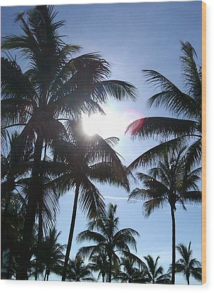 Wood Print featuring the photograph Palms by J Anthony