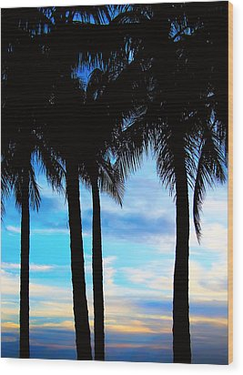 Palms Wood Print by Kara  Stewart