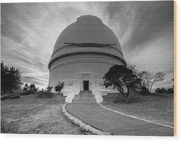 Wood Print featuring the photograph Palomar Observatory by Robert  Aycock