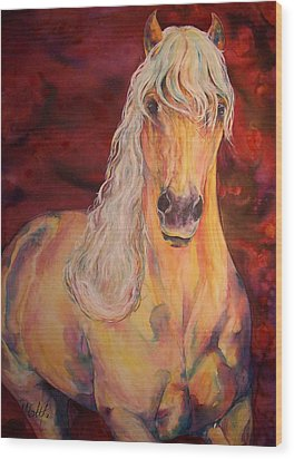 Wood Print featuring the painting Palomino Ruby  by Christy  Freeman