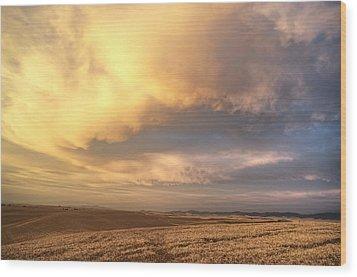 Palouse August Sunset Wood Print