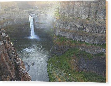 Palouse Falls Wood Print by Rich Collins