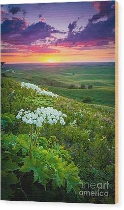 Palouse Flowers Wood Print by Inge Johnsson