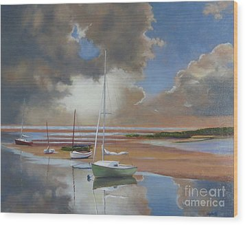 Pamet Harbor Inlet Wood Print