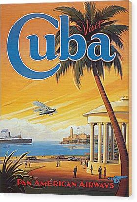 Pan Am Cuba  Wood Print