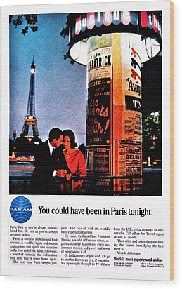 Pan Am To Paris Wood Print by Benjamin Yeager