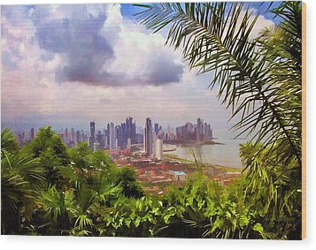 Panama City From Ancon Hill Wood Print