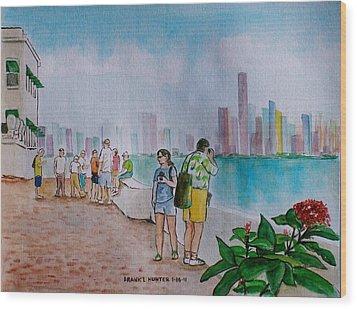Panama City Panama Wood Print by Frank Hunter