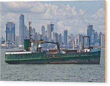 Panama Cityscape Wood Print