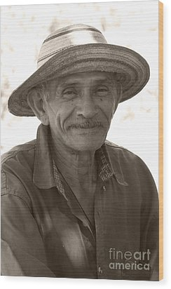 Panamanian Country Man Wood Print by Heiko Koehrer-Wagner
