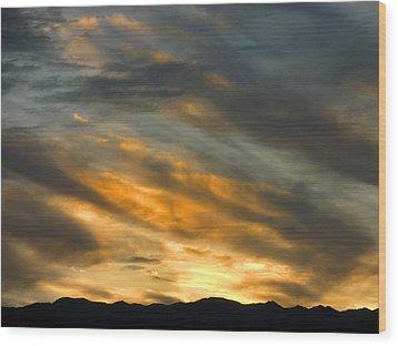 Panamint Sunset Wood Print by Joe Schofield