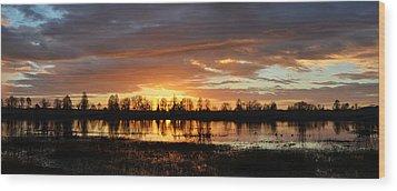 Panaroma Sunrise 02092015 Wood Print