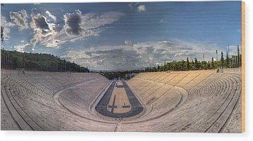 Wood Print featuring the photograph Panathenaic Stadium by Micah Goff