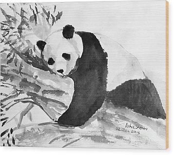 Panda Wood Print
