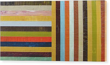 Panel Abstract L Wood Print by Michelle Calkins