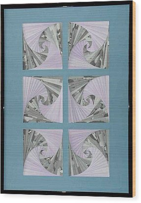 Wood Print featuring the mixed media Panes by Ron Davidson