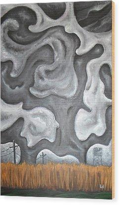 Panic Switch Wood Print by Logan Hoyt Davis