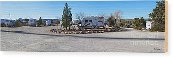 Panorama Cedar Cove Rv Park Street 2 Wood Print by Roena King