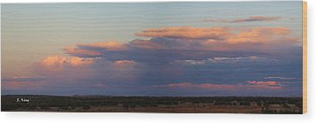 Panorama Colors In The Clouds Wood Print by Roena King