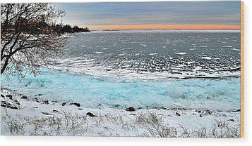 Panorama Freeze - Horsey Bay - Kingston - Canada Wood Print
