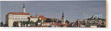 panorama - Mikulov castle Wood Print by Michal Boubin