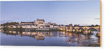 Panorama Of Amboise Loire Valley France Wood Print by Colin and Linda McKie