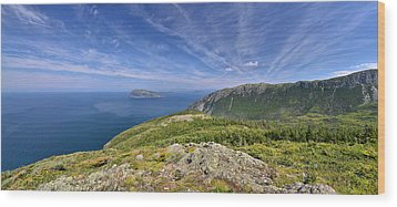 Panorama Of Grosvenor Island And The Outer Bay Of Islands Wood Print