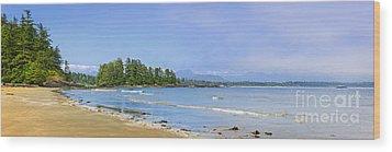 Panorama Of Pacific Coast On Vancouver Island Wood Print by Elena Elisseeva