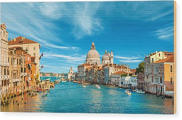 Panorama Of The Basilica Santa Maria Della Salute Wood Print