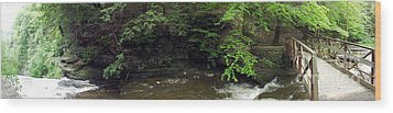 Panorama Of Wolf Creek At Letchworth State Park Wood Print by Rose Santuci-Sofranko