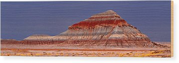 Panorama - Painted Desert 004 Wood Print by George Bostian