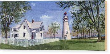 Panoramic Of Marblehead Wood Print by Terri  Meyer