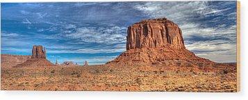 Panoramic Of Merrick Butte Wood Print