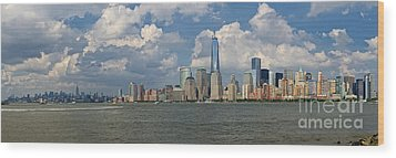 Panoramic Of New York City Wood Print
