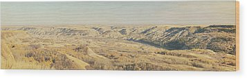 Panoramic Of The Badlands Of The Red Wood Print by Roberta Murray