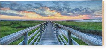 Panoramic View Bass Hole Boardwalk Wood Print