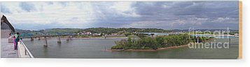 Panoramic View Of North Shore Chattanooga Tennessee Wood Print by   Joe Beasley