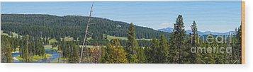 Panoramic Yellowstone Landscape Wood Print