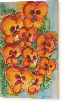 Pansies Love Us Wood Print